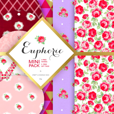 Freebie - EUPHORIC MINI PACK COVER from Craft a Doodle Doo