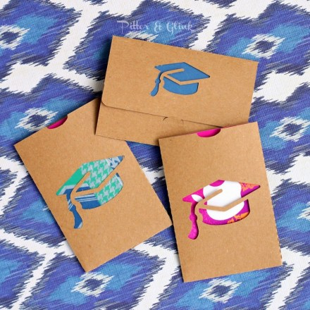 Freebie - Graduation Gift Card Holder Cut File from Pitter and Glink