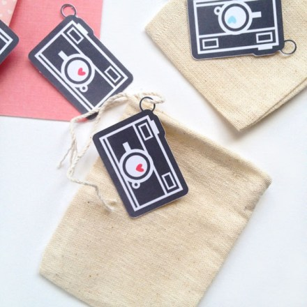Mini Chalkboard Camera Tags by Maritza