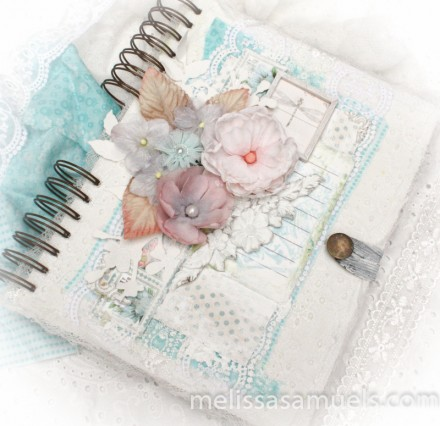 Tutorial - shabby chic book cover by Melissa Samuels