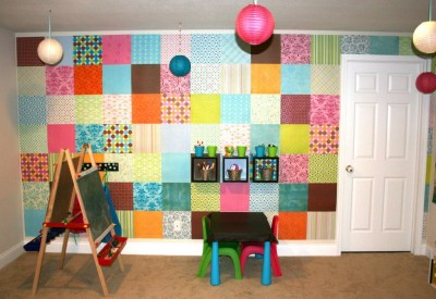 scrapbook wall
