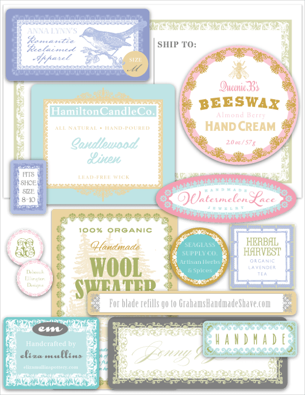 Freebie - Crafter's Branding Pack of Labels from World Label 2