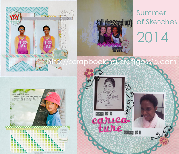 Summer of Sketches at Craft Gossip 2014