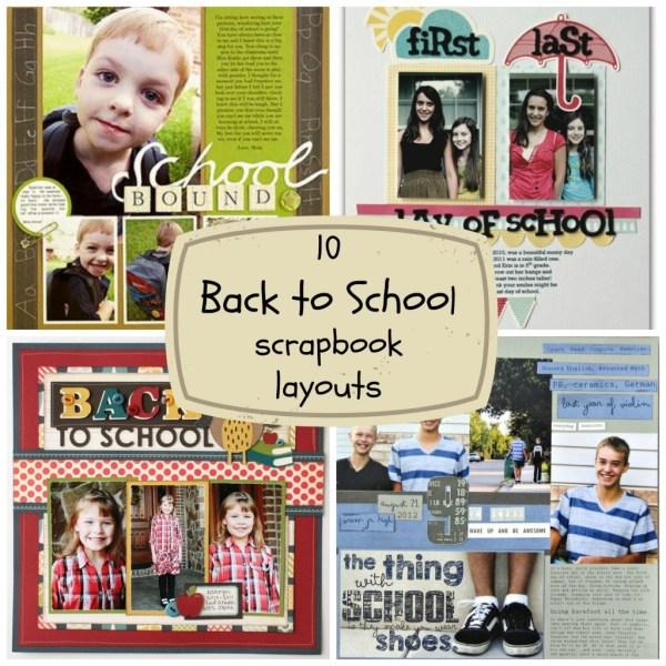 10 back to school scrapbook layouts - CraftGossip