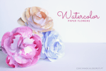 Tutorial | DIY Watercolor Flowers