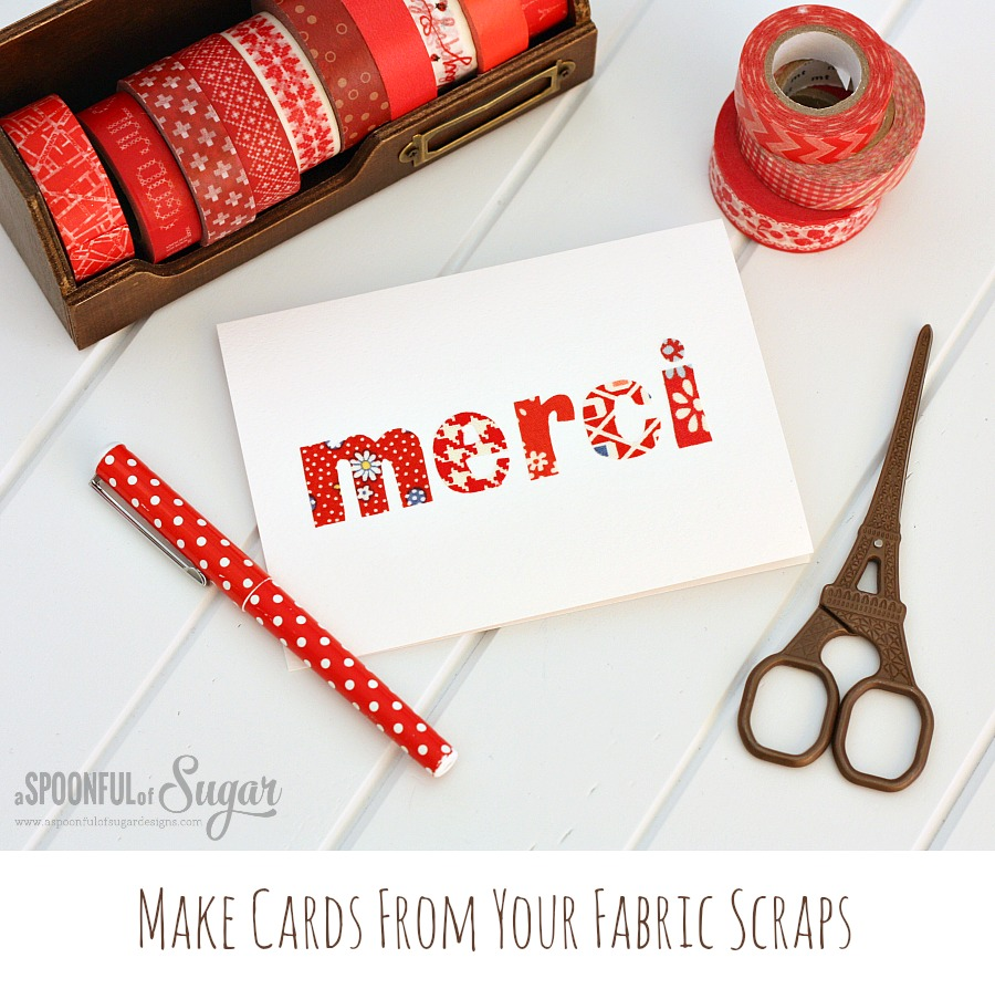 Tutorial - Make-cards-from-your-fabric-scraps-Spoonful of Sugar Designs