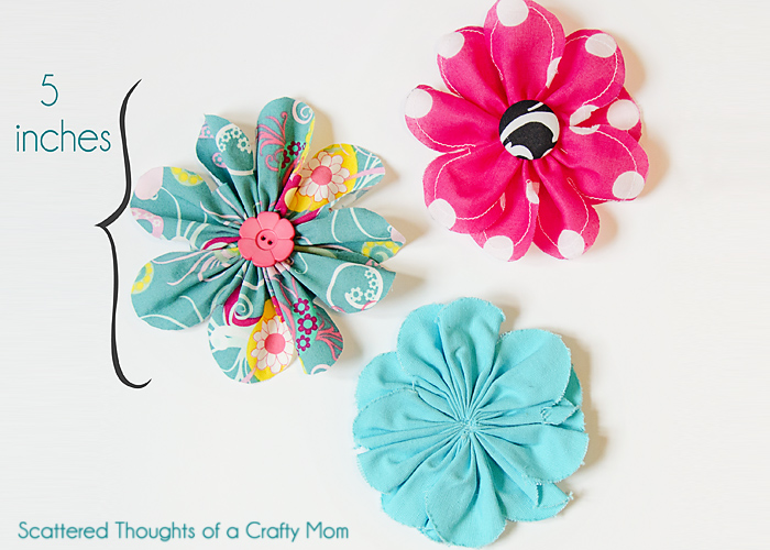 Tutorial - how-to-make-fabric-flowers - Scattered Thoughts of a Crafty Mom