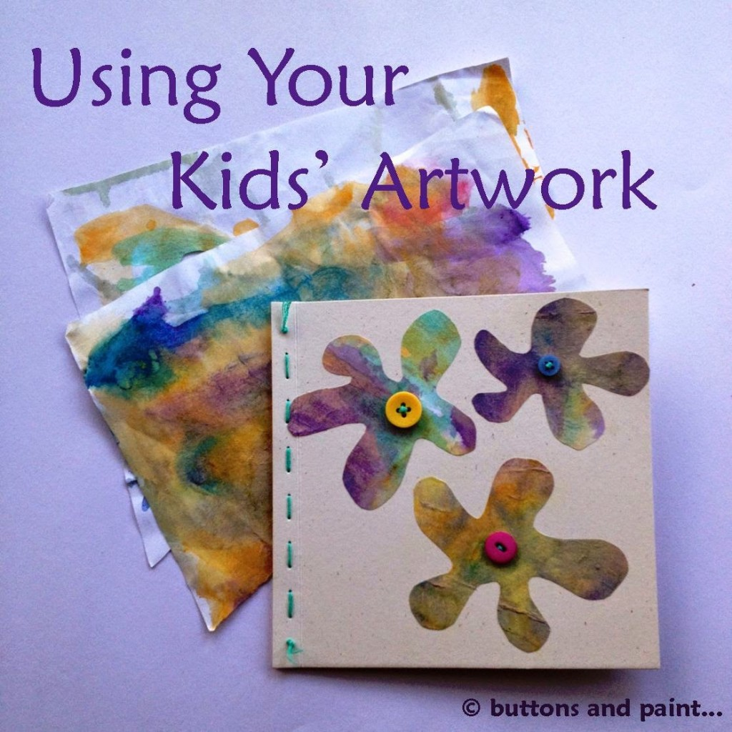 Using Kids Artwork at Buttons and Paint