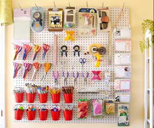 Leah Fung's ultra organized Scrapbook Room 2