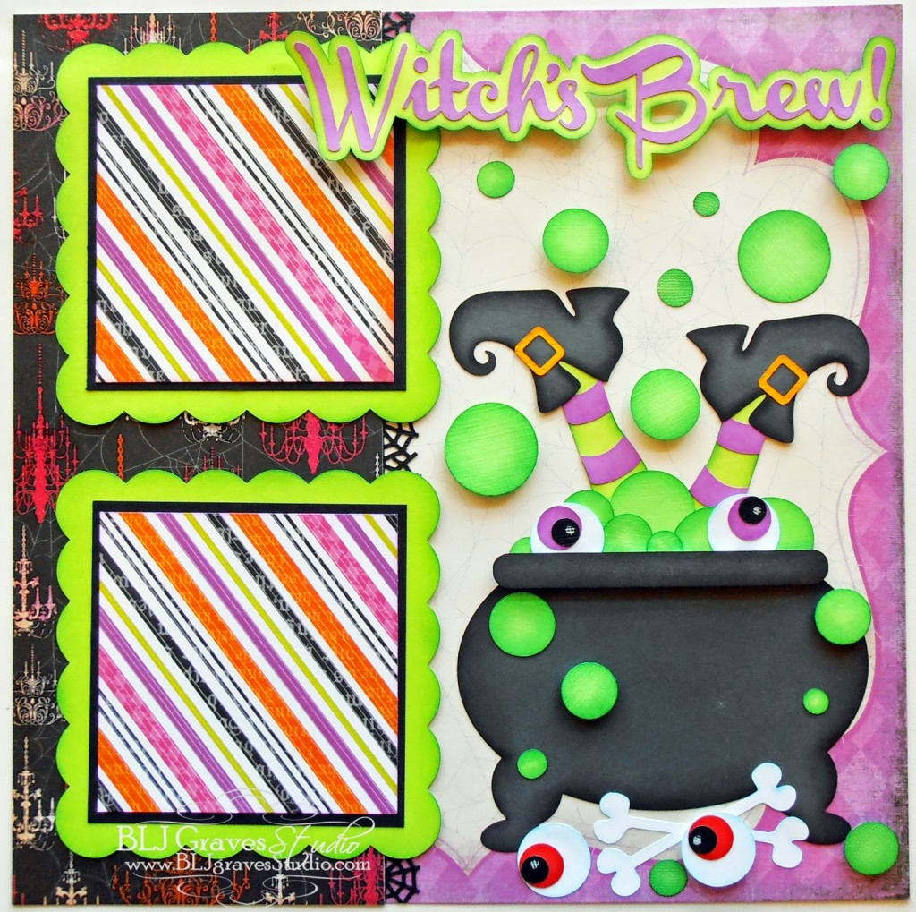 8 Page Layouts For Your Halloweek Scrapbook