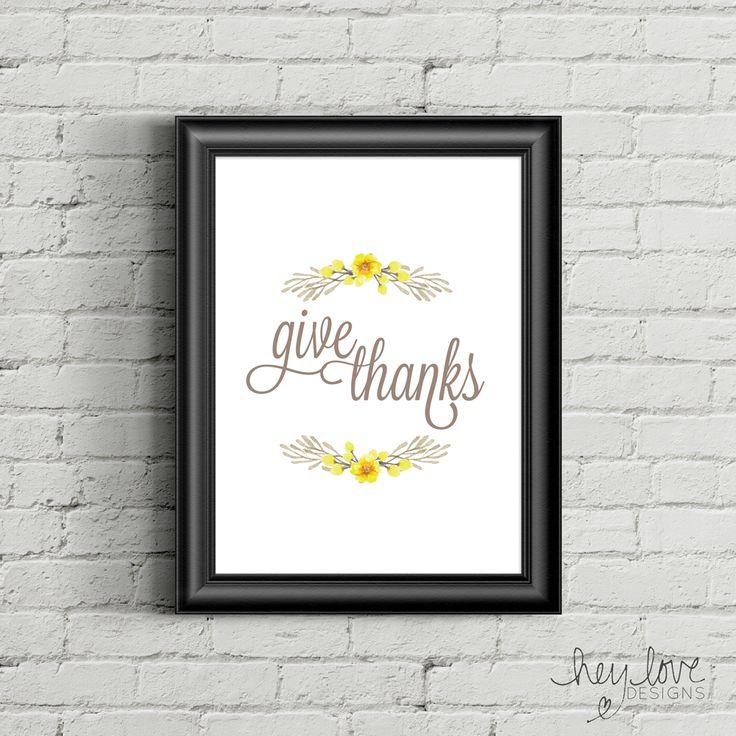 Printable Give Thanks Poster
