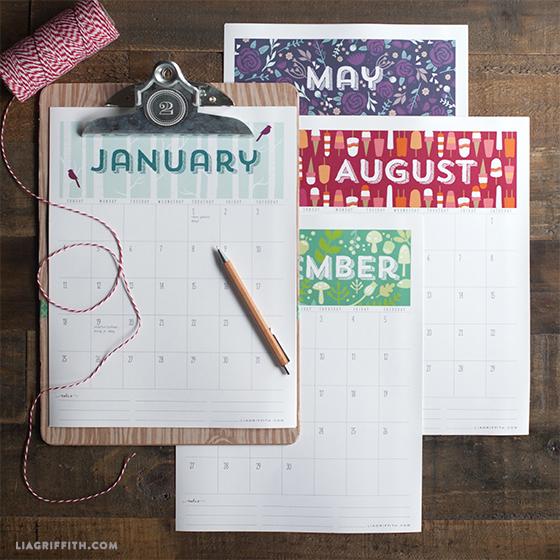 2015_Printable_Calendar from Lia Griffith