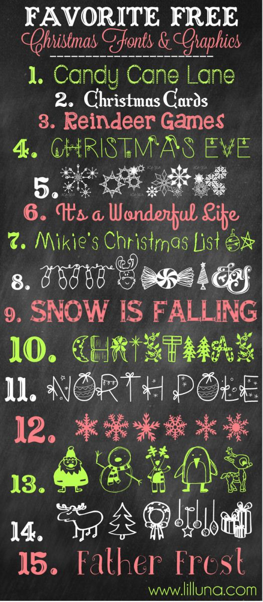 15 More Free Christmas Fonts & Graphics + A Font Management Tip