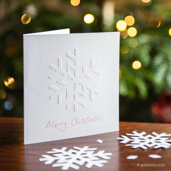 Tutorial | Hand Embossed Snowflake Christmas Card