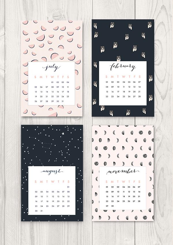 Calendar Craft 2015 : More free printable calendars scrap booking