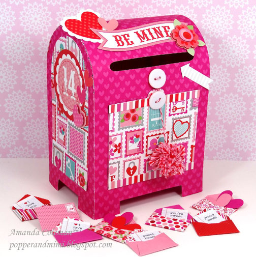 Post Office Valentine Mailbox Doodlebug Amanda Coleman