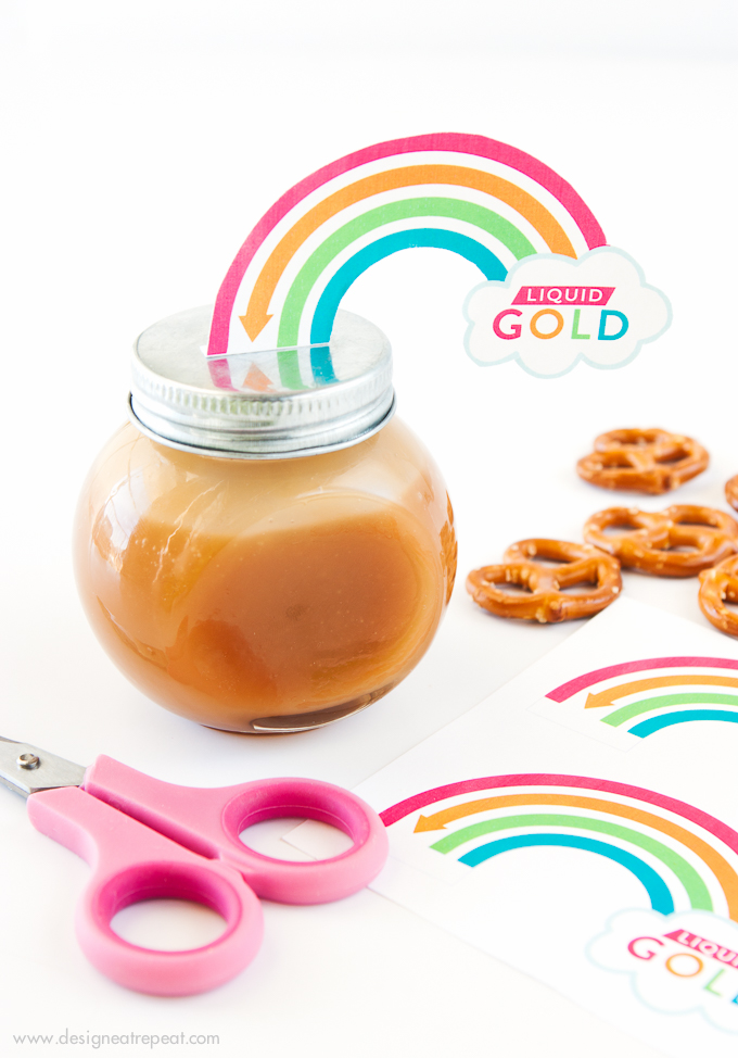 Free Pot of Gold Rainbow Printables from Design Eat repeat