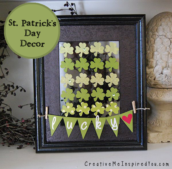 St. Patrick's Day Shamrock and Bunting Decor by Creative Me Inspired You