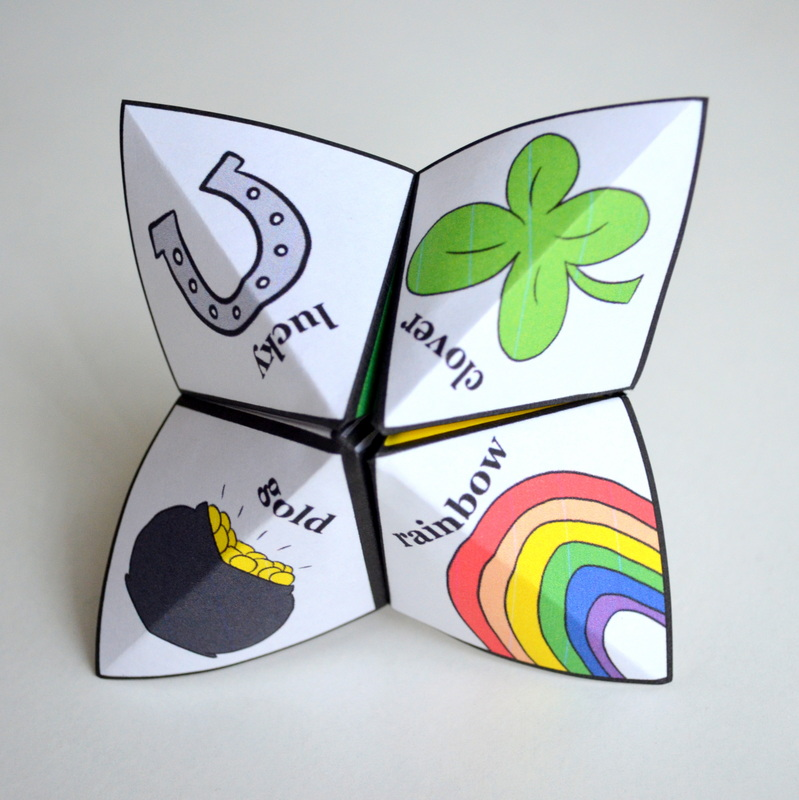 printable St. Patrick's Day Joke Teller from Cozy Reverie