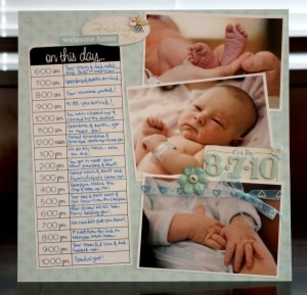 8 Scrapbook Layouts For Your Babynewborn Scrap Booking