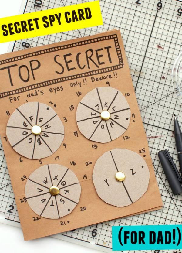 secret spy card for dad