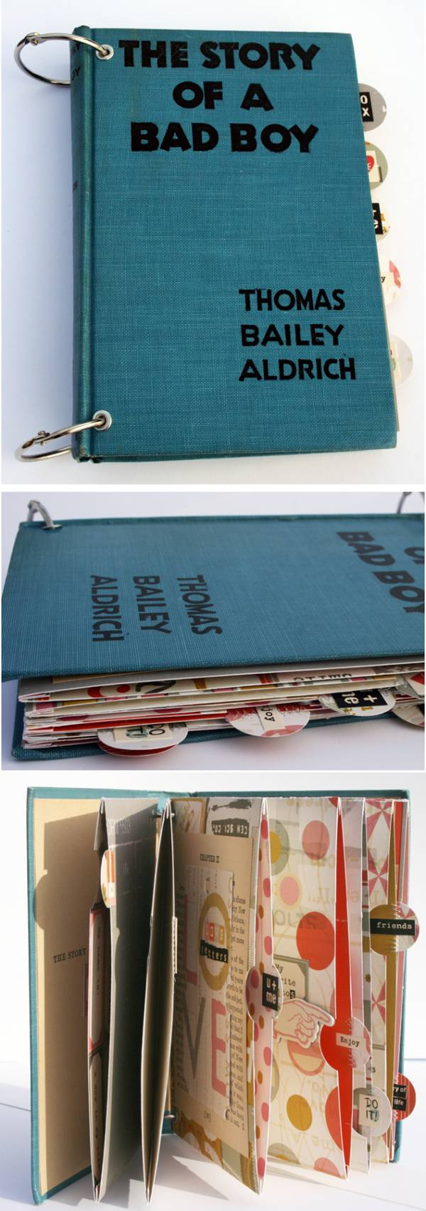 Scrapbook ideas newspaper articles - Pocket Album Using Vintage Book Cover At Cosmo Cricket