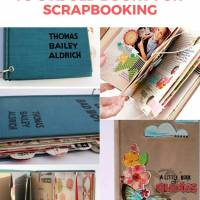 11 Ways to Use Old Books for Scrapbooking