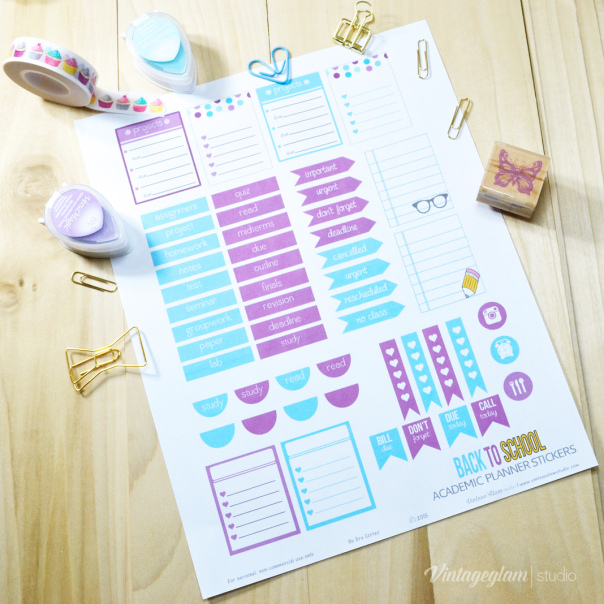 photograph relating to Freebie Planner named Freebie Educational Planner Stickers S Reserving