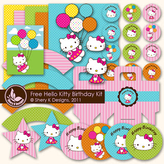 Hello Kitty Digital Birthday Kit