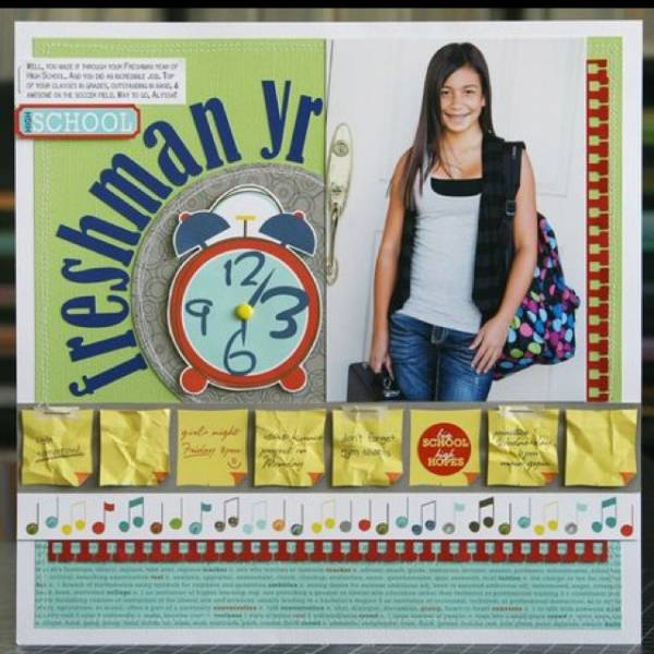 Single Photo BAck to School Scrapbook Layout 5