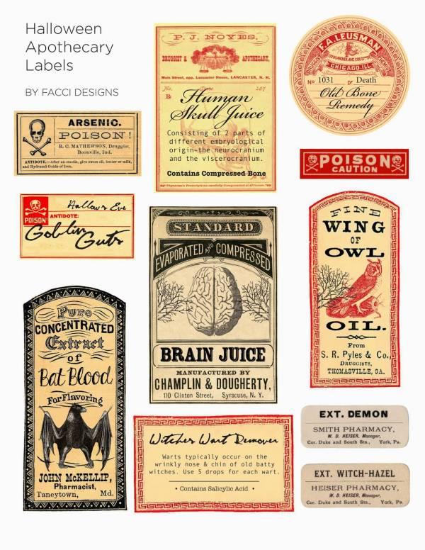 Facci Designs Halloween Labels