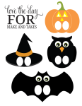 Printable Halloween Finger Puppets
