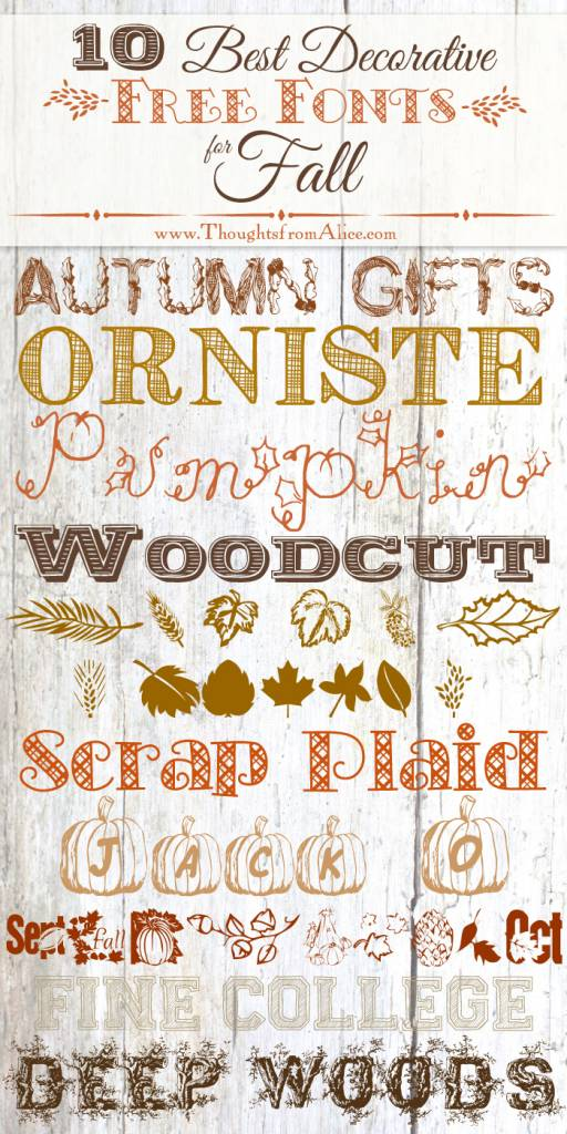 10 Best Free Decorative Fonts for Fall – Scrap Booking