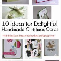 10 Ideas for Delightful Handmade Christmas Cards