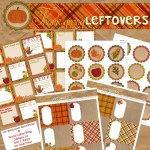 Free Labels for Thanksgiving Leftovers + Digital Papers