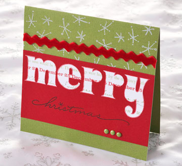 20 Handmade Christmas Cards Using Scrapbooking Supplies ...