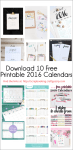 Download 10 Free Printable 2016 Calendars