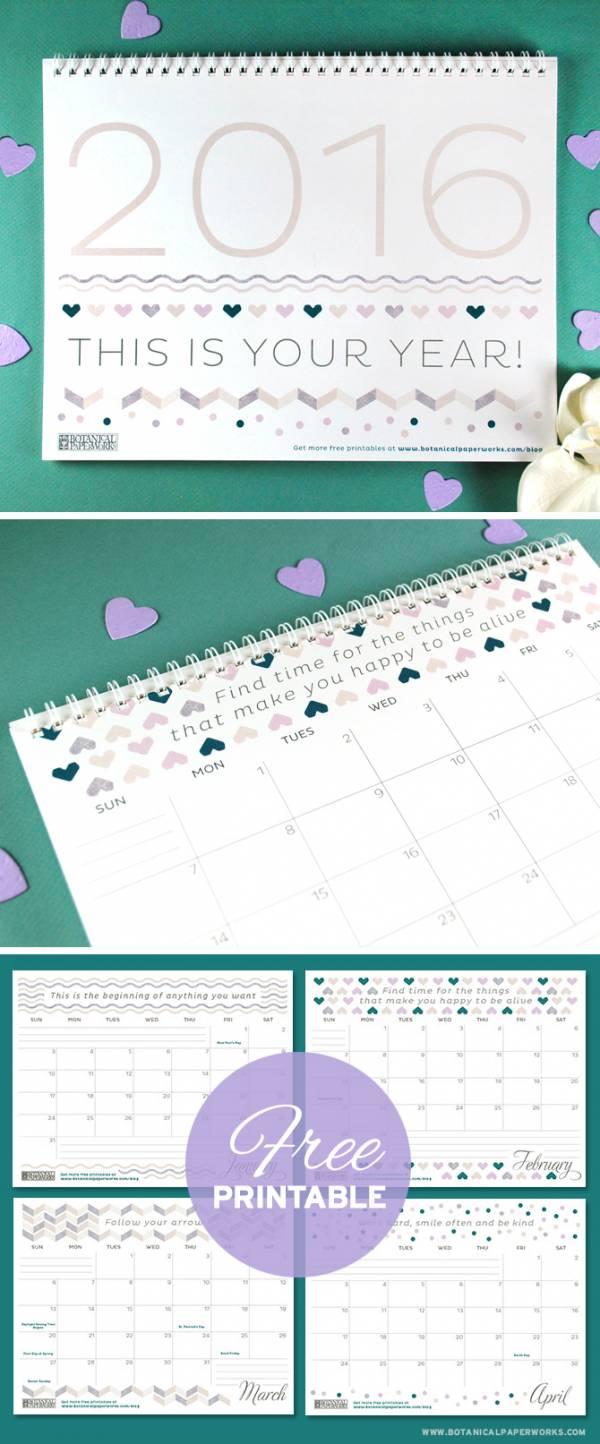 Free-Printable-Calendar-2016-Pattern(1)