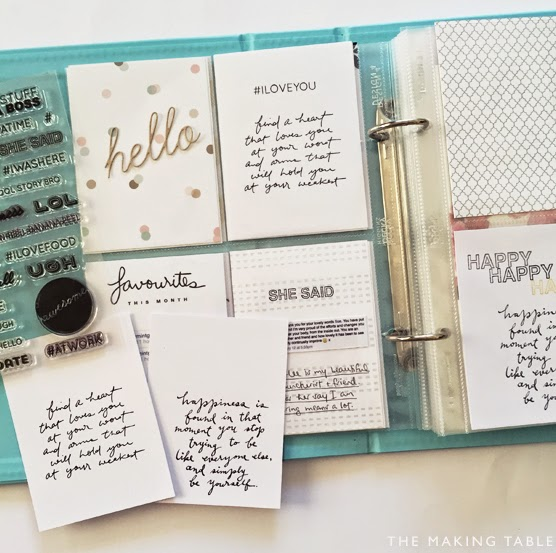 Free handwritten quotes for project life