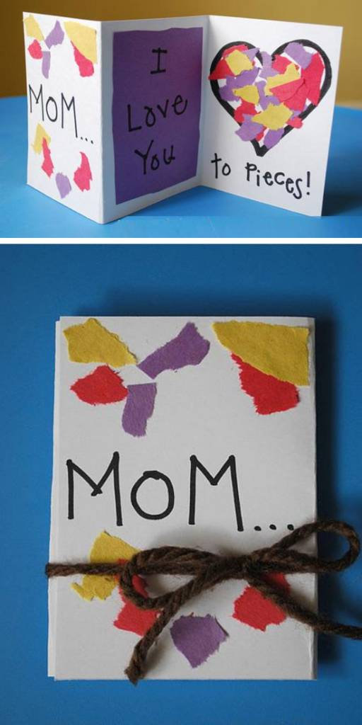 Admirable 16 Easy Mothers Day Cards For Kids To Make Scrap Booking Funny Birthday Cards Online Fluifree Goldxyz