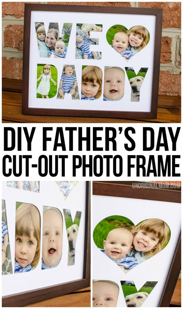DIY Father's Day Frame Tutorial