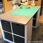DIY Counter Height Craft Table with Storage