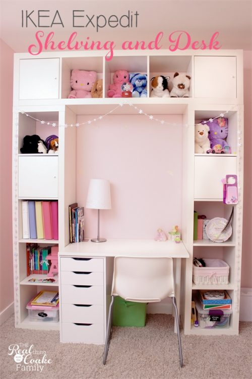 Check Out This Genius Shelving Unit U0026 Desk Using An IKEA Expedit (now  Called IKEA Kallax). Itu0027s Shown Here In A Childu0027s Room, But It Could Be The  Perfect ...
