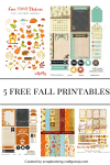 5 Free Fall Printables for Scrapbooks and Planners