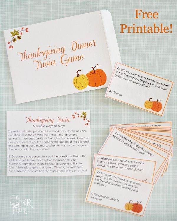 5 Fun Thanksgiving Games to Play at the Table with Your ...