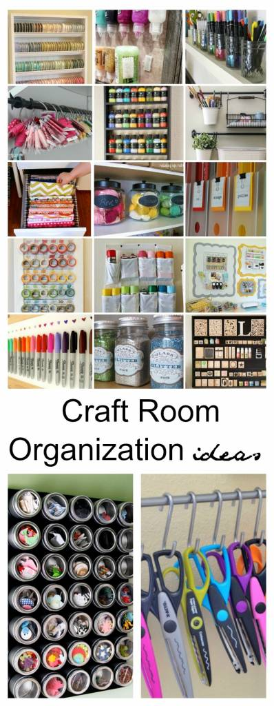 Craft room organization and storage ideas for the new year for Craft supplies organization ideas