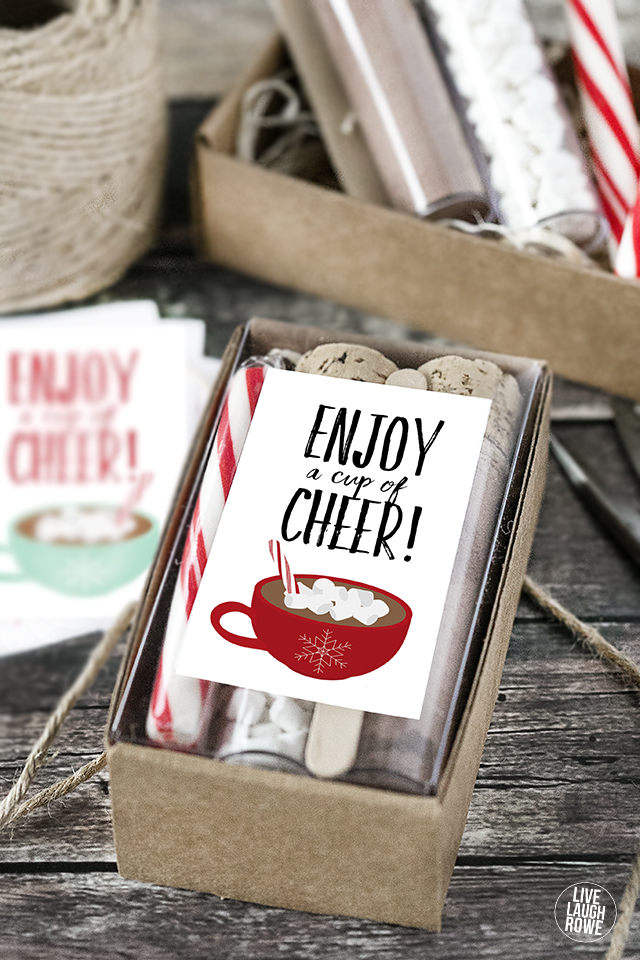 Cup of cheer printable hot chocolate gift idea scrap - Gift ideas with chocolate ...