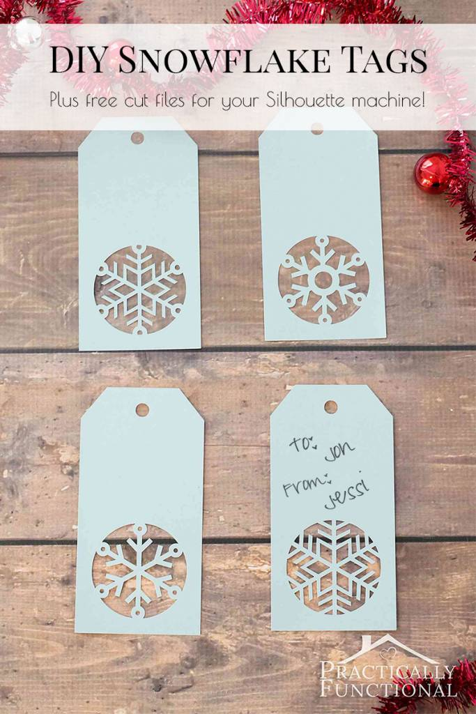Make Snowflake Christmas Gift Tags With Free Cut File