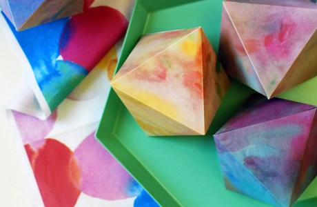Free Printable Watercolour Paper Gems