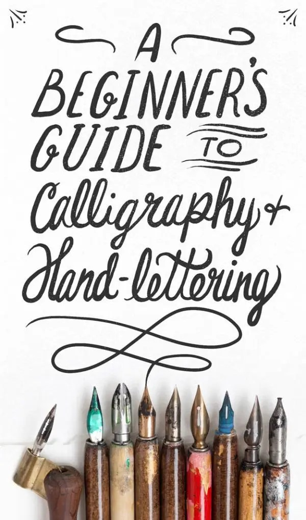 8 Tips To Learn Calligraphy Hand Lettering Scrap Booking